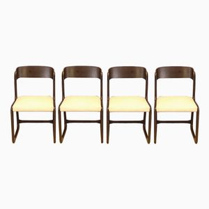 Mid-Century Sleigh Base Chairs from Baumann, Set of 4