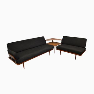 Vintage Minerva Seating Group from Peter Hvidt & Orla Mølgaard for France & Daverkosen