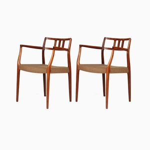 Model 64 Rosewood Chairs by Niels Otto Møller for J.L. Møllers, 1960s, Set of 2
