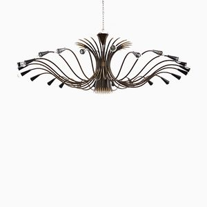 Large Mid-Century Chandelier by Oscar Torlasco