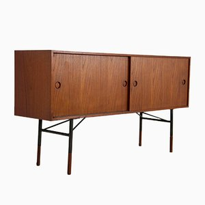 Teak Furnier Sideboard von Finn Juhl für Bovirke, 1950er