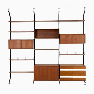 Urio Teak Veneer Wall-Unit by Ico Parisi for Mim Roma, 1960s