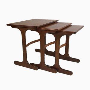 Teak Veneered Nesting Tables from G-Plan, 1960s