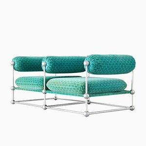 Mid-Century S420 Modular Seating Two-Seater Sofa by Verner Panton for Thonet
