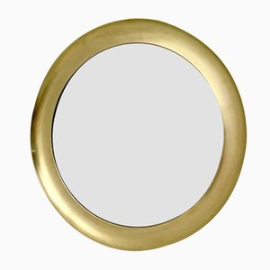 Italian Brass Wall Mirror by Sergio Mazza, 1970s