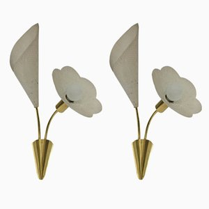 Mid-Century Wall Sconces, Set of 2