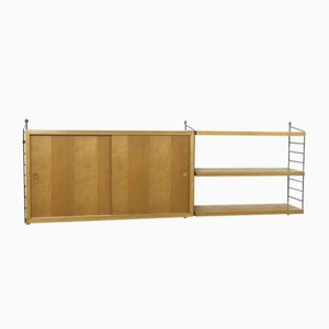 Swedish Ash Wall Unit by Kajsa & Nils Strinning for String, 1960s