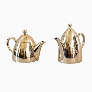 Alpaca Tee- und Kaffee Kannen, 1920er