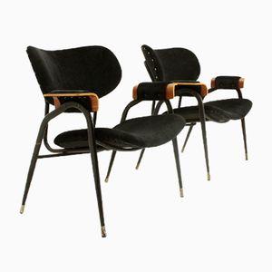 Italienische Mid-Century Armlehnstühle von Gastone Rinaldi für Rima, 1960er, 2er Set