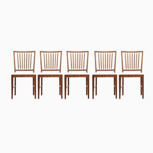 Scandinavian Teak Chairs, 1960s, Set of 5
