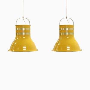 Große Schwedische Deckenlampen von Per Sundstedt für Kosta, 1970er, 2er Set