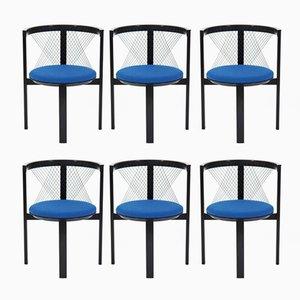 String Chairs by Niels Jørgen Haugesen for Tranekær, 1985, Set of 6