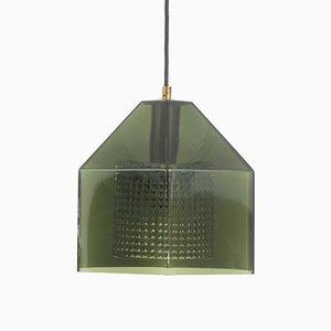 Hängelampe aus Grünem Glas von Carl Fagerlund für Orrefors, 1960er