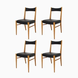 Viennese Dining Room Chairs by Anna-Lülja Praun for Wiesner Hager, 1958, Set of 4