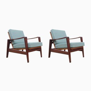 Model 35 Lounge Chairs by Arne Wahl Iversen for Komfort, 1960s, Set of 2