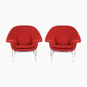 Mid-Century Womb Chairs by Eero Saarinen for Knoll Inc, Set of 2