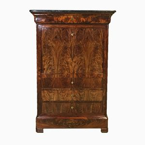 Louis Philippe Secretaire in Mahogany with Marble Top