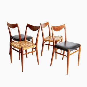 Vintage Bambi Teak Dining Chairs by Rolf Rastad & Adolf Relling for Gustav Bahus, Set of 4