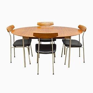 Mid-Century Tisch und Stühle aus Teak & Stahl von John & Sylvia Reid für Stag