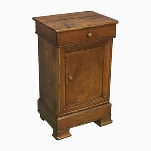 19th-Century Louis Philippe Bedside Table in Oak