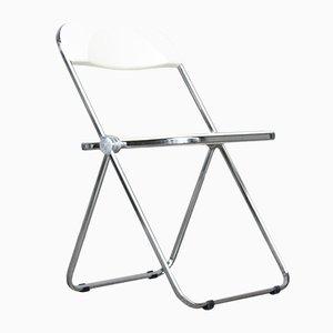 Vintage Folding Plia Chair in White by Giancarlo Piretti for Castelli