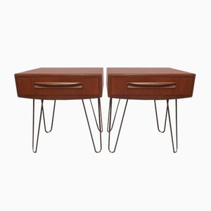 Bedside Tables by Victor Wilkins for G-Plan, 1970s, Set of 2