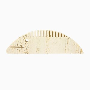 Travertine Fisch Schreibtisch Ornament von Fratelli Mannelli, 1970er