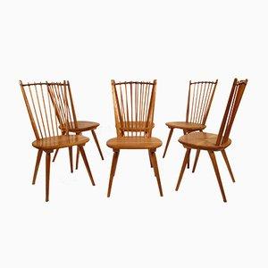 Chairs by Albert Haberer for Hermann Fleiner, 1950s, Set of 6