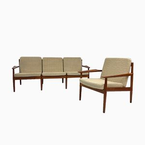 Danish Teak Seating Group by Arne Vodder for Glostrup, 1960s