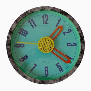 Horloge Murale Neos Post-Moderne par Nathalie Du Pasquier et George Sowden pour Lorenz, 1988
