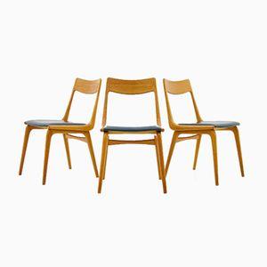 Boomerang Dining Chairs by Erik Christensen for Slagelse Møbelværk, 1950s, Set of 3