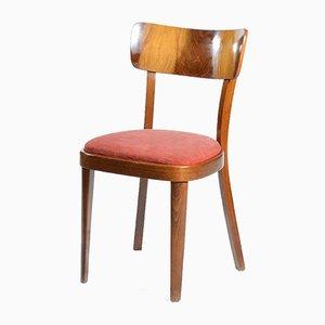 Chairs in Wooden Veneer, 1950s, Set of 4