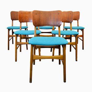 Vintage Danish Teak & Beech Dining Chairs from Boltinge Møbelfabrik, Set of 6