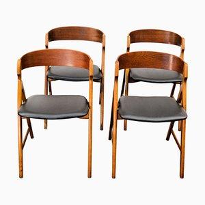 Vintage Wooden Dining Chairs by Henning Kjaernulf for Boltinge Støle Møbelfabrik, Set of 4