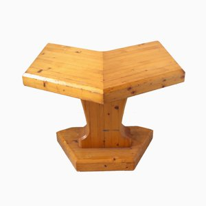 French Pine Table or Stool, 1970s