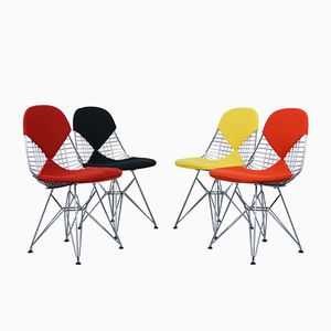 Mid-Century DKR-2 Bikini Chairs by Charles & Ray Eames for Herman Miller, 1950s, Set of 4