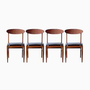 Vintage Teak Chairs, Set of 4