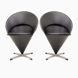 Model K1 Cone Chairs by Verner Panton for Gebrüder Nehl, 1950s, Set of 2