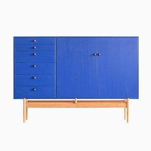 Blauer Schrank von Tove & Edvard Kindt-Larsen für Säffle Möbelfabrik, 1960er