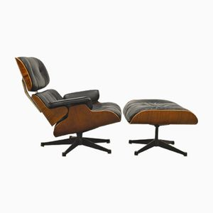 Vintage Lounge Chair & Ottoman by Ray & Charles Eames for Herman Miller, 1950s