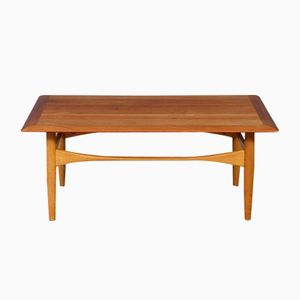 Vintage Oak & Teak Coffee Table by Aksel Bender Madsen for Bovenkamp