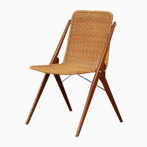 Mid-Century Dutch Cane & Teak Chair