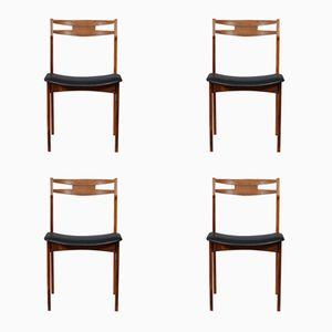 Mid-Century Dutch Rosewood Dining Chairs, Set of 4