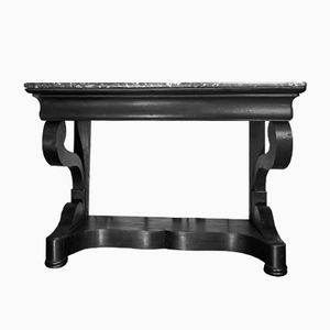 Antique Ebonized Console Table