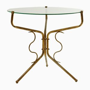 Brass and Glass Coffee Table, 1950s