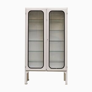Vintage Medical Cabinet in Iron and Glass, 1970s