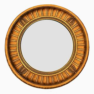 Mid-Century French Giltwood Convex Mirror