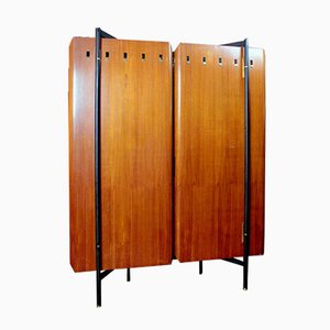 Mid-Century Italian Wardrobe with Mirror, 1950s