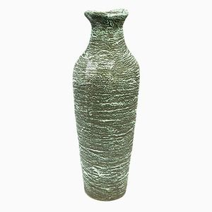 Ceramic Teal Vase, 1970s