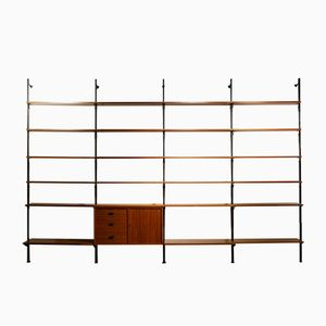 XL Teak & Metal Shelving System by Olof Pira for Pira System, 1960s